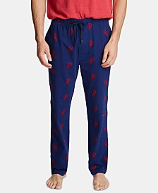 Nautica Men's Cotton Lobster-Print Pajama Pants
