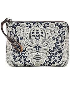 Cassini Denim Crochet Wristlet
