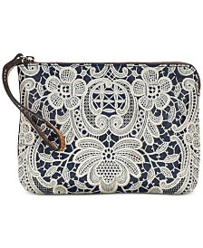 Patricia Nash Cassini Denim Crochet Wristlet