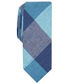 Original Penguin Men's Olan Plaid Skinny Tie