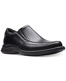 Clarks Men's Kempton Free Black Leather Dress Casual Loafers