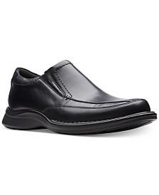 Clarks Men's Kempton Free Black Leather Dress Casual Loafers