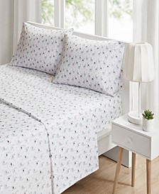 Novelty 4-PC King Printed Sheet Set