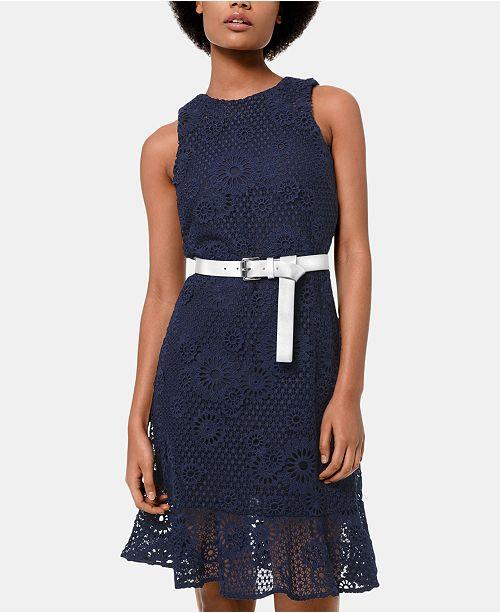 Michael Kors Lace Belted Dress