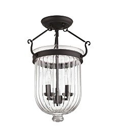 """CLOSEOUT! Livex   Coventry 3-Light 17"""" Ceiling Mount"""