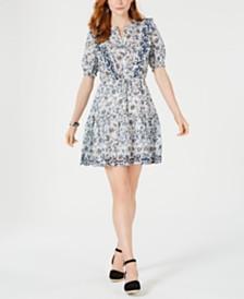 Lucky Brand Victoria Printed Ruffle Dress