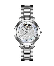 of Switzerland Ladies Silver Stainless Steel Bracelet Watch 34mm