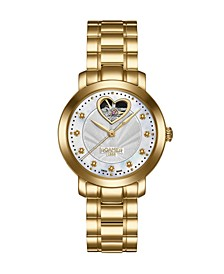 of Switzerland Ladies Goldtone Stainless Steel Bracelet Watch 34mm