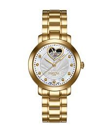 Roamer of Switzerland Ladies Goldtone Stainless Steel Bracelet Watch 34mm