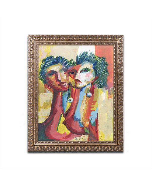 "Trademark Global Echemerdia 'Havana Couple II' Ornate Framed Art - 14"" x 11"""
