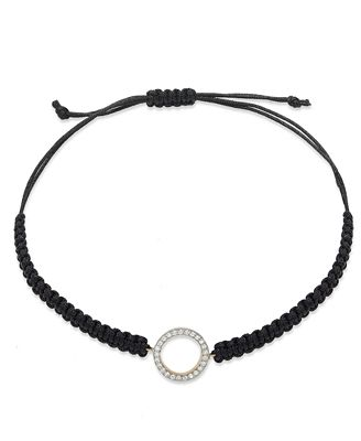 Diamond Circle Parachute Cord Bracelet in (1/6 ct. t.w.)