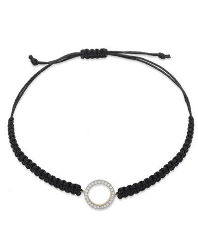 Diamond Circle Parachute Cord Bracelet in (1/6 ct. t.w.)