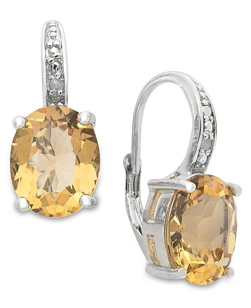 71ba04d03 Macy's Victoria Townsend Sterling Silver Earrings, Citrine (4-3/4 ct ...