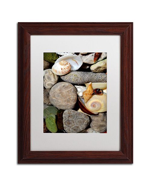 "Trademark Global Michelle Calkins 'PetoskeyStones ll' Matted Framed Art - 14"" x 11"""