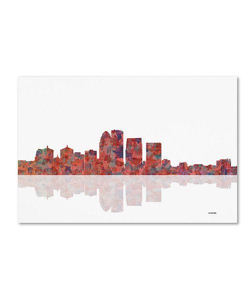 "Trademark Global Marlene Watson 'Louisville Kentucky Skyline' Canvas Art - 12"" x 19"""