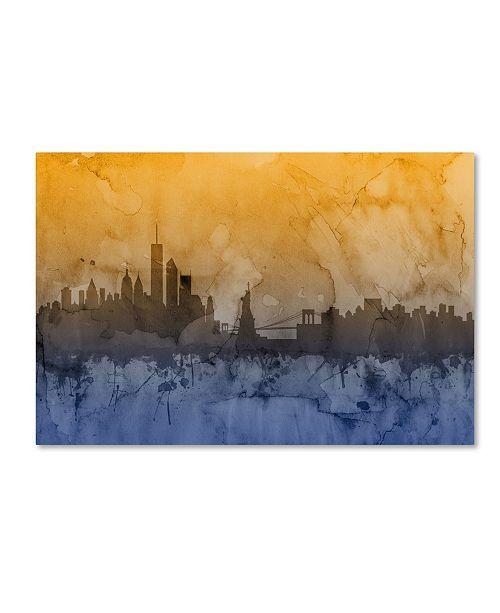 """Trademark Global Michael Tompsett 'New York Skyline V' Canvas Art - 12"""" x 19"""""""