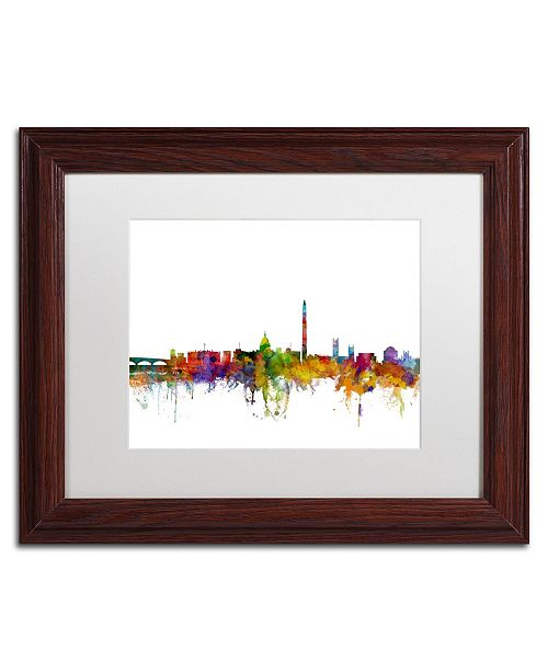"Trademark Global Michael Tompsett 'Washington DC Skyline II' Matted Framed Art - 11"" x 14"""