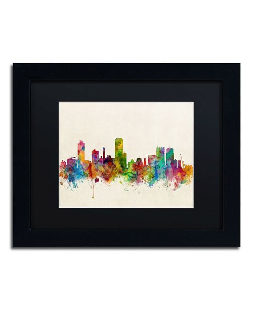 "Trademark Global Michael Tompsett 'Wellington New Zealand Skyline' Matted Framed Art - 11"" x 14"""