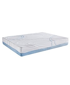 AC Pacific Charcoal and Gel Infused Eastern King Memory Foam Mattress