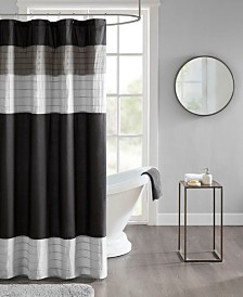 510 Design Terence Pieced and Pintucked Shower Curtain with Liner