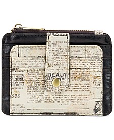 Cassis Newspaper Print Card Case