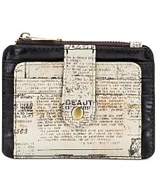 Patricia Nash Cassis Newspaper Print Card Case