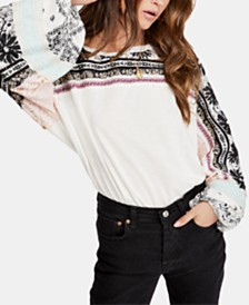 Free People Tripoli Printed Contrast Tunic