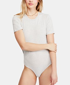 Free People In My Tee Cotton Bodysuit