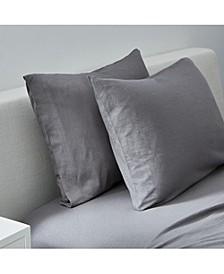 Slub Jersey Solid Standard Pillowcase Pair