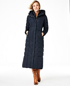 Signature Petite Layered Maxi Puffer Coat