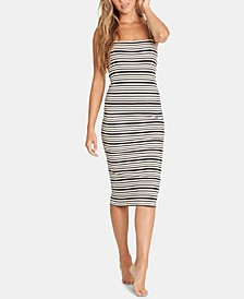 Juniors' Striped Tie-Back Dress