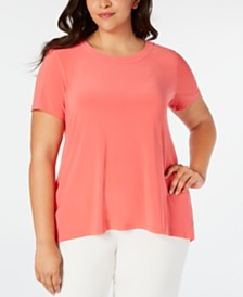 Anne Klein Plus Size High-Low T-Shirt