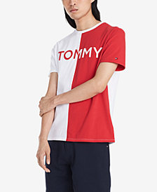 Tommy Hilfiger Men's Big & Tall Berra Colorblocked Logo Graphic T-Shirt
