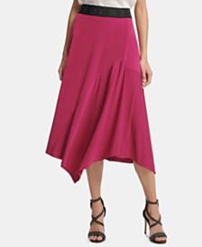 DKNY Asymmetrical Overlay Skirt