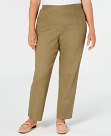 Alfred Dunner Plus Size Lake Tahoe Pull-On Flat-Front Pants