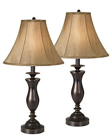 kathy ireland home by Pacific Coast New England Village Set of 2 Table Lamps