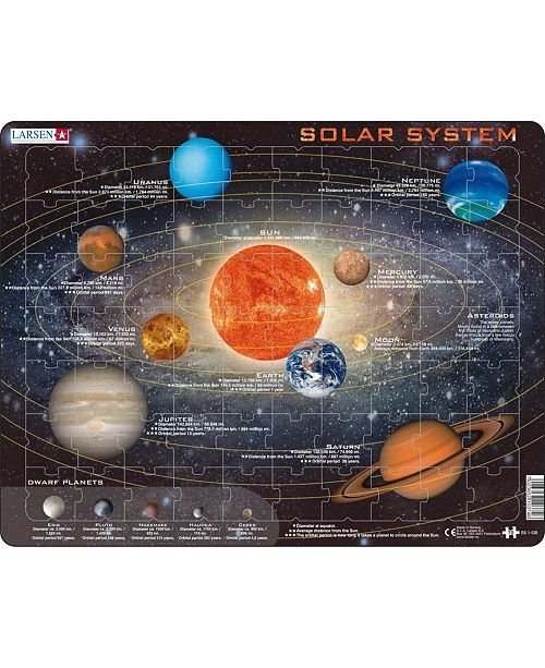 Springbok Larsen Puzzles Solar System Children's Educational Jigsaw Puzzle 70 Piece Tray Frame Style Puzzle