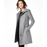 Deals on Calvin Klein Stand-Collar Walker Coat