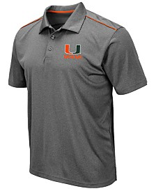 Colosseum Men's Miami Hurricanes Eagle Polo