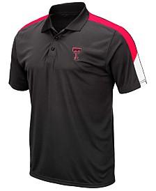 Colosseum Men's Texas Tech Red Raiders Color Block Polo