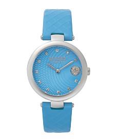 Versus Women's Blue Strap Watch 18mm