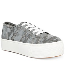 Steve Madden Women's Emmi Lace-Up Flatform Sneakers