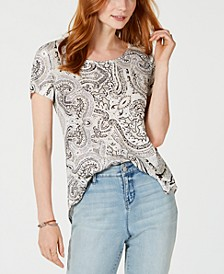 Printed Scoop-Neck Top, Created for Macy's