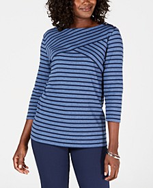 Petite Striped Top, Created for Macy's
