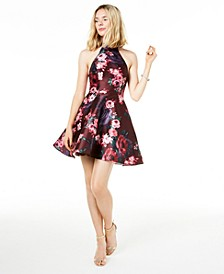 Juniors' Lace-Back Double-Ruffle Dress