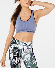 Calvin Klein Performance Mid-Impact Padded Racerback Sports Bra