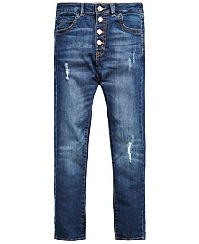 GUESS Big Girls Distressed Stretch Skinny Jeans