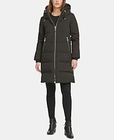 Petite Hooded Puffer Coat