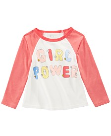 First Impressions Toddler Girls Cotton Long-Sleeve Girl Power T-Shirt, Created for Macy's