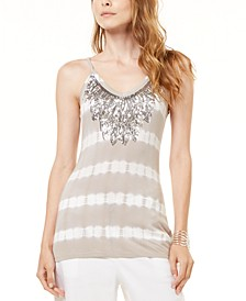 INC Embellished Tie-Dyed Tank Top, Created for Macy's